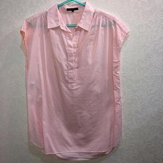 ニジュウサンク(23区)の23区 フレンチスリーブシャツ 40(シャツ/ブラウス(半袖/袖なし))