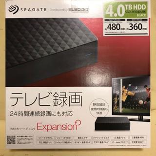 エクスパンション(EXPANSION)の新品未開封★SEAGATE・4TB HDD外付けハードディスクExpansion(テレビ)