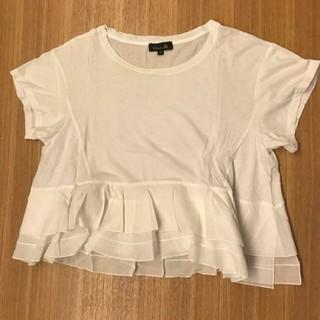 ドゥロワー(Drawer)のdrawer フリル Tシャツ(Tシャツ(半袖/袖なし))