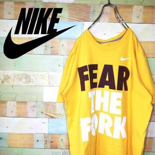 ナイキ(NIKE)のNIKEナイキ☆ビッグサイズFear The Forkプリントデカロゴ Tシャツ(Tシャツ/カットソー(半袖/袖なし))