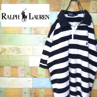 ポロラルフローレン(POLO RALPH LAUREN)のポロラルフローレン☆ボーダー刺繍ロゴワンポイント ポロシャツ(ポロシャツ)