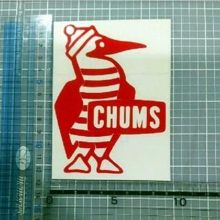 チャムス(CHUMS)のチャムス ステッカー 赤 1枚(ステッカー)