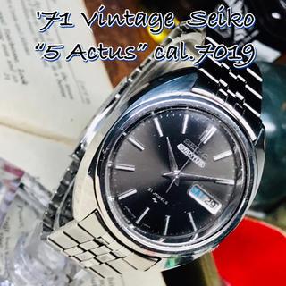 セイコー(SEIKO)の'71 Vint. セイコー アクタス 自動巻メンズ OH済 Mグレーダイヤル(腕時計(アナログ))