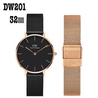 6dd2f11b0f ダニエルウェリントン(Daniel Wellington)の【32㎜】ダニエル ウェリントン腕時計DW201+ベルト