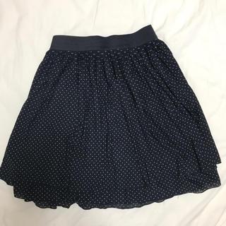 ナチュラルビューティーベーシック(NATURAL BEAUTY BASIC)のドット柄スカート ナチュラルビューティベーシック(ひざ丈スカート)