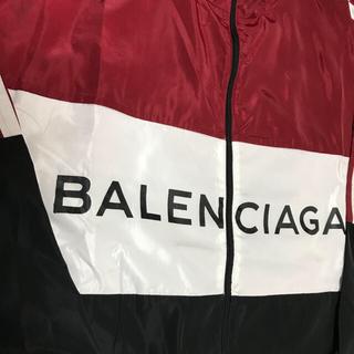 バレンシアガ(Balenciaga)のBALENCIAGA トラックジャケット 赤 40(ナイロンジャケット)