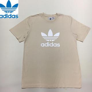 アディダス(adidas)のアディダスオリジナルス◆デカロゴ Tシャツ ベージュ Mサイズ(Tシャツ/カットソー(半袖/袖なし))
