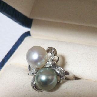 真珠 ダイヤモンドリング(リング(指輪))