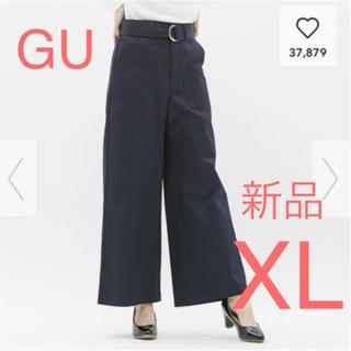 ジーユー(GU)の新品☆GU  チノウエストベルトベイカーワイドパンツ(チノパン)