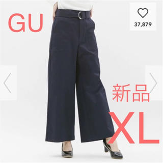 GU - 新品☆GU  チノウエストベルトベイカーワイドパンツ