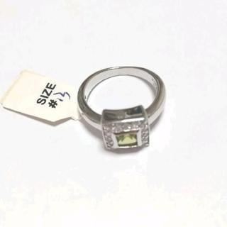 シルバー925 オラオラ系リング グリーンCZ(リング(指輪))