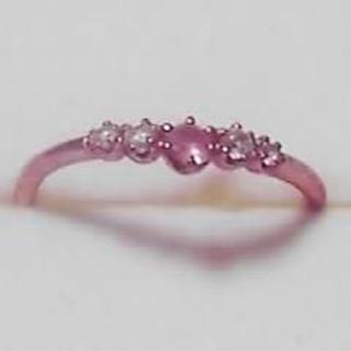 クミキョク(kumikyoku(組曲))の組曲 PK10  ピンクサファイア・ダイヤリング(リング(指輪))