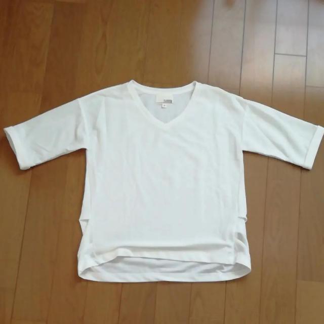 しまむら(シマムラ)のHK WORKS LONDON カットソー 5分袖 Tシャツ 無地 レディースのトップス(カットソー(半袖/袖なし))の商品写真
