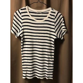 サマンサモスモス(SM2)のストライプTシャツ(Tシャツ(半袖/袖なし))