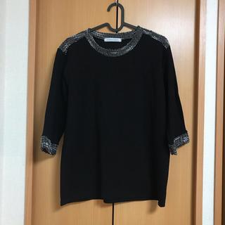 dholic -  [clicknfunny]ツイード配色Tシャツ・p64524