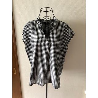 ジーユー(GU)のGU ギンガムチェック カットソー  XL(シャツ/ブラウス(半袖/袖なし))