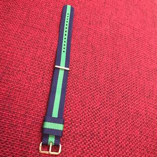 ダニエルウェリントン(Daniel Wellington)のダニエルウェリントン 純正品 替えベルト ネイビー×グリーン 送料込 36mm(腕時計)