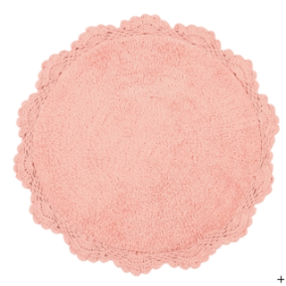 Francfranc - Francfrancフランフラン レースマット ピンク コットン素材