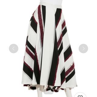 フレイアイディー(FRAY I.D)のモールストライプスカート(ロングスカート)