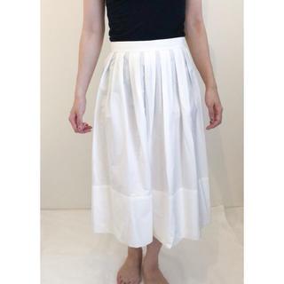 ジルサンダー(Jil Sander)の美品♧JILSANDER ジルサンダー ロングスカート ホワイト(ロングスカート)