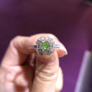 Gia★0.59ctグリーンダイヤモンド指輪(リング(指輪))