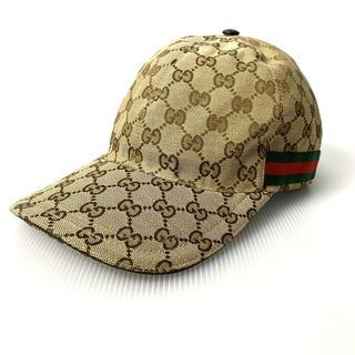 グッチ(Gucci)の【H】国内正規◆グッチ シェリーライン GG柄 ベースボールキャップ L(キャップ)