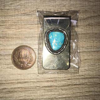 マライカ(MALAIKA)のインディアンジュエリー マネークリップ 天然石 ターコイズ(マネークリップ)