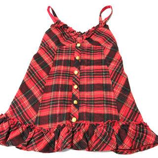 リズリサドール(LIZ LISA doll)のLIZ LISA doll/赤チェック キャミソール(キャミソール)