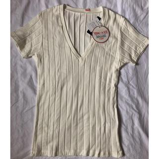 シップスフォーウィメン(SHIPS for women)のYOUNG&OLSEN リブVネック 半袖カットソー 新品(Tシャツ(半袖/袖なし))