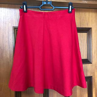 ユニクロ(UNIQLO)のUNIQLO ユニクロ スカート 赤色(ミニスカート)