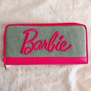バービー(Barbie)の値下げ!Barbie☆デニム生地 長財布 刺繍(財布)