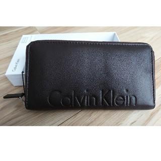 カルバンクライン(Calvin Klein)のCalvin Klein 茶色 長財布 【訳あり】(長財布)