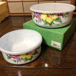 タッパー 花柄 セット 保存容器 大小(容器)