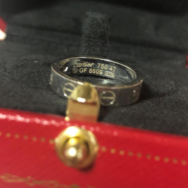 Cartier(カルティエ)のカルティエ ミニラブリング  ダイヤ  レディースのアクセサリー(リング(指輪))の商品写真