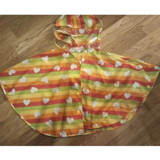 オレンジボンボン(Orange bonbon)の子供 レインコート(ポンチョ型 ) フリーサイズ(レインコート)