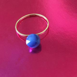 アッシュペーフランス(H.P.FRANCE)のスイートピー Sweet Pea  ブルー リング 18k(リング(指輪))