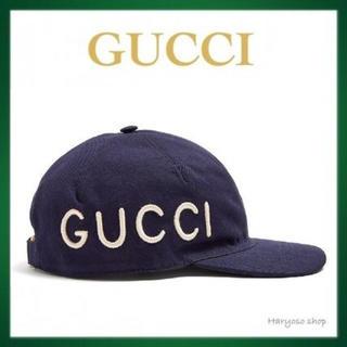 グッチ(Gucci)のGUCCI グッチ 帽子 ネイビー LOVED ラブ ベイスボールキャップ(キャップ)