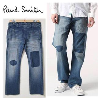 ポールスミス(Paul Smith)の《ポールスミス》新品 リペア加工クラッシュデニムパンツ インディゴ L(W88)(デニム/ジーンズ)