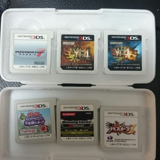 ニンテンドー3DS(ニンテンドー3DS)のNINTENDO 3DS ソフト 6個セット♪ケース付き‼(携帯用ゲームソフト)