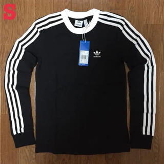 アディダス(adidas)のアディダス オリジナルス 3ストライプ 長袖 Tシャツ 黒 S(Tシャツ(長袖/七分))