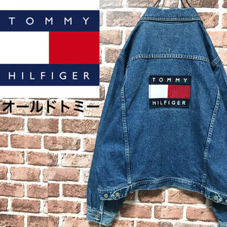 TOMMY HILFIGER - 激レアトミーヒルフィガージーンズ入手困難90sビッグロゴデニムジャケットGジャン