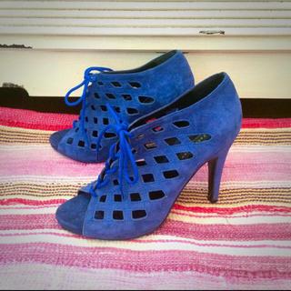 ザラ(ZARA)のZARA ブルー サンダル ブーティー / ザラ 靴 サマーブーツ(サンダル)