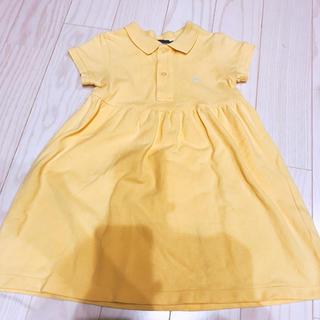 ラルフローレン(Ralph Lauren)のラルフローレン 黄色 ワンピース 90(ワンピース)
