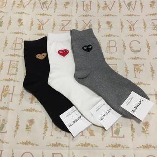 コムデギャルソン(COMME des GARCONS)の💛ハート 靴下 3足セット💛 バラ売り不可(ソックス)
