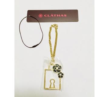 クレイサス(CLATHAS)のCLATHAS 黒いカメリアのバッグチャーム  (バッグチャーム)