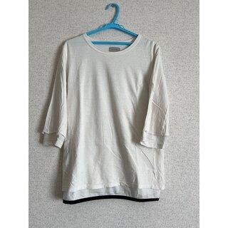 アンユーズド(UNUSED)のBED J.W FORD 15S/S メッシュレイヤードカットソー ホワイト 0(Tシャツ/カットソー(七分/長袖))