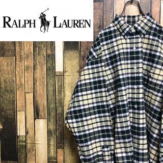 ラルフローレン(Ralph Lauren)の【激レア】ラルフローレン☆ワンポイント刺繍ロゴチェックビッグシャツ 90s(シャツ)
