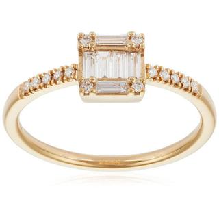 ベルシオラ ダイヤモンド テーパーカット K18 リング(リング(指輪))