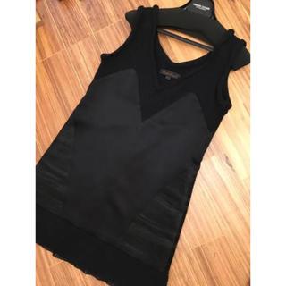 アンダーカバー(UNDERCOVER)の超美品!UNDERCOVER パープル期 ワンピース ドレス 1 ブラック(ひざ丈ワンピース)