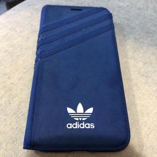 アディダス(adidas)のadidas iPhone XS ケース アディダス 手帳型 トレフォイル(iPhoneケース)